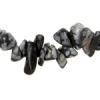 "Semi-precious Chips 2X8""strand Snowflake Obsidian"